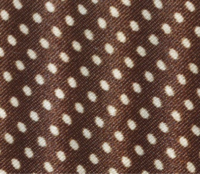 Coffee Brown with white dots